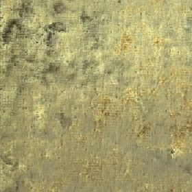 Diva - Moss - Pale green-yellow, grey and gold colours combined to create a patchy effect on cotton, viscose and polyester blend fabric