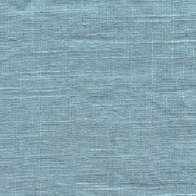 Eden - Aquamarine - Plain sky blue coloured 100% linen fabric