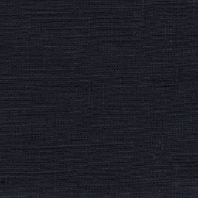 Eden - Jet - Very dark midnight blue-black coloured fabric made with a 100% linen content