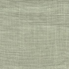 Eden - Lint - 100% linen fabric woven using threads in light green-grey and cream colours