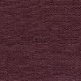 Eden - Rosewood - Dark grape coloured fabric made entirely from linen