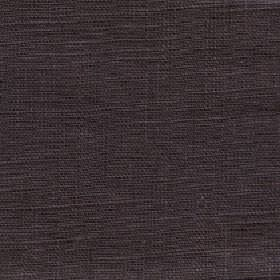 Eden - Dark Earth - Very dark grey coloured 100% linen fabric made with a very slight, subtle dark purple tinge