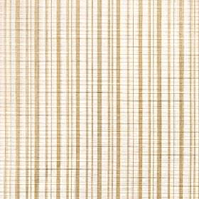 Muse - Champagne - Biscuit coloured lines running in a vertical stripe pattern down light ivory coloured 100% Trevira CS fabric