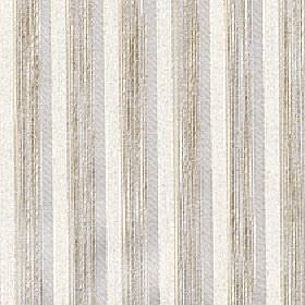 Blink - Sandshell - Cream, dark beige and grey stripes printed repeatedly in solid and patchy colours on fabric made from 100% Trevira CS