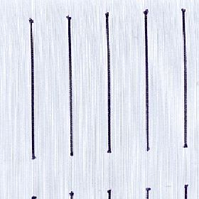Echo - Aubergine - Long individual black lines arranged in neat rows over a pale grey-white 100% Trevira CS fabric background