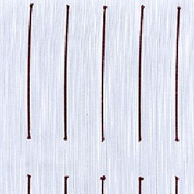 Echo - Rosewood - 100% Trevira CS fabric made with a streaky background behind rows of long individual lines in white, black and light grey