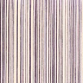 Mystique - Dusk - White and shades of dark purple making up a vertical design of very thin lines and stripes on 100% Trevira CS fabric