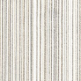 Mystique - Moonbeam - 100% Trevira CS fabric made in white and several different light shades of grey with a vertical design of very thin line