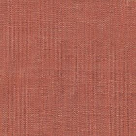 Enya - Coral Gold - Dark salmon pink coloured fabric made from 100% polyester with a subtle light grey tinge