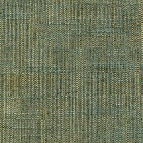 Enya - Cedar - 100% polyester threads in teal and olive green colours woven together into an otherwise unpatterned fabric
