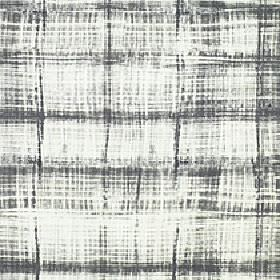 Velocity - Castle Rock - 100% cotton fabric in white, printed randomly with patchy streaks and areas of colour in a very dark grey shade