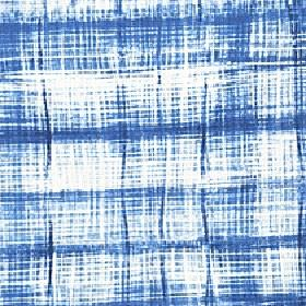 Velocity - China Blue - Patchily printed 100% cotton fabric with a random, streaky pattern created in white and very vibrant Royal blue