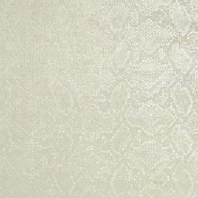 Ganymede - Straw - A very subtle pale grey-white reptile skin pattern covering fabric made from viscose and cotton