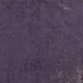 Themisto - Aubergine - Dark purple viscose and cotton blend fabric featuring some small silver-grey patches