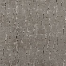 Leda - Otter - Random steel grey coloured blocks arranged in a closely spaced pattern on a very dark grey blended fabric background
