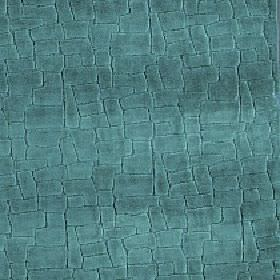 Leda - Dragonfly - Viscose, cotton and polyester blend fabric made in rich jewel-like marine blue, covered with a random block pattern