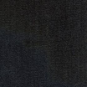 Gecko - Jet - Linen and polyester blended together into a plain fabric in a colour that's a mixture of midnight blue and very dark grey