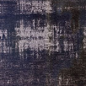Hayworth - Chestnut - Charcoal, dark navy blue and stone coloured patches covering viscose and cotton blend fabric
