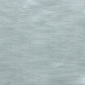Halo - Blue Haze - Very subtly streaked 100% polyester fabric featuring white lines on a light duck egg blue coloured background