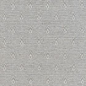 Fara - Natural - Small, simple diamond shapes arranged in neat rows over light grey and white coloured cotton and linen blend fabric