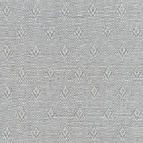 Fara - Silver Sage - Speckled grey and white cotton and linen blend fabric featuring a pattern of rows of small, simple diamond shapes