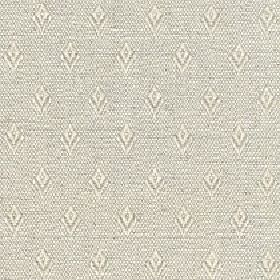 Fara - Wheat - Speckled fabric made with a repeated simple diamond pattern and a cotton and linen blend content in light grey and cream