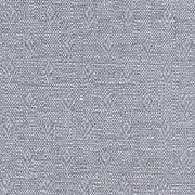 Fara - Feather Grey - Small, simple diamonds arranged in rows over a speckled blue-grey and light grey cotton & linen blend fabric backgroun