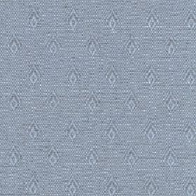 Fara - Mineral Blue - Fabric made from cotton and linen in two light shades of grey with a speckled effect behind rows of small, simple diamon