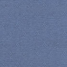 Fara - Aegean Blue - A subtle speckle and diamond shape pattern woven into cotton and linen blend fabric in two similar shades of cobalt blu