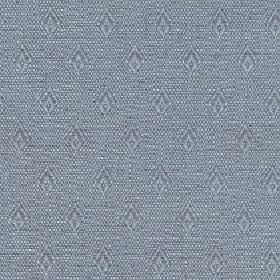 Fara - Ocean - Cotton and linen blend fabric made in blue-grey and light grey, featuring speckles and rows of small, simple diamonds