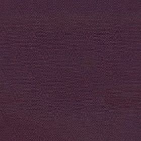 Fara - Port - Subtly patterned aubergine coloured cotton and linen blend fabric with rows of small, almost imperceptible diamonds