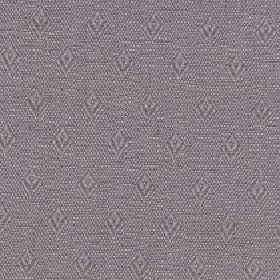 Fara - Chesnut - Pink-grey and mid-grey speckles behind rows of small, simple diamond shapes on fabric made from cotton and linen