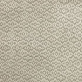 Tenabo - Atmosphere - Simple jagged diamond shapes arranged repeatedly over polyester and viscose blend fabric in cream and light grey