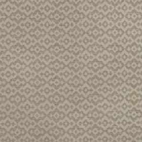 Tenabo - Safari - Beige and light grey coloured polyester and viscose blend fabric patterned repeatedly with simple jagged diamond shapes