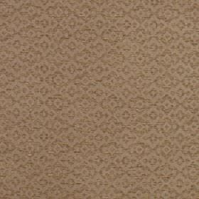 Tenabo - Cumin - Subtly patterned polyester and viscose blend fabric with a simple jagged diamond shape design in two light brown shades