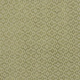 Isamal - Palm - Two similar light shades of green making up a subtle jagged diamond shape pattern on cotton, viscose & polyester fabric