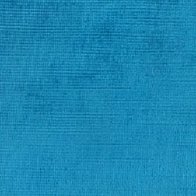 Kentia - Azure - Bright, vibrant sky blue coloured fabric made from an unpatterned blend of cotton and viscose