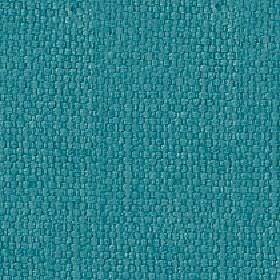 Kiloran - Teal - Fabric made from cotton and linen, woven using threads in a bright, rich aqua blue colour