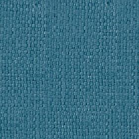 Kiloran - Mineral Blue - Plain denim blue coloured fabric woven from a combination of cotton and linen
