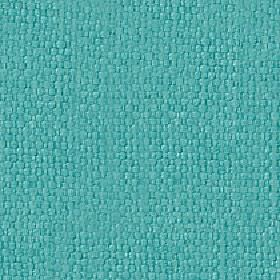 Kiloran - Turquoise - Vibrant aqua blue coloured woven cotton and linen blend fabric