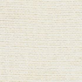 Lana - Vanilla - Plain white and limestone coloured threads woven together into an unpatterned 100% polyester fabric