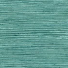 Lena - Mineral Blue - Subtle horizontal streaks creating a subtle horizontal pattern on a turquoise silk and polyester blend fabric backgrou