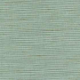 Lena - Seagrass - Jade, dusky blue and forest green coloured lines creating a soft gentle streaky pattern on silk & polyester blend fabric