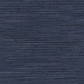 Lena - Blue Coral - Light grey and dark blue streaks creating a subtle horizontal pattern on navy blue silk and polyester blend fabric