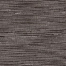 Lena - Walnut - Very dark grey horizontal streaks and some small pale grey patches printed on mid-grey silk and polyester blend fabric