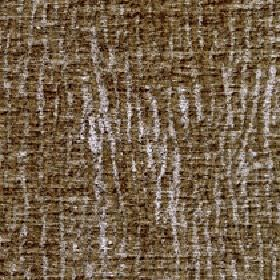 Lexi - Warm Sand - Dark khaki coloured lines streaking randomly and patchily down silver coloured fabric made from 100% polyester