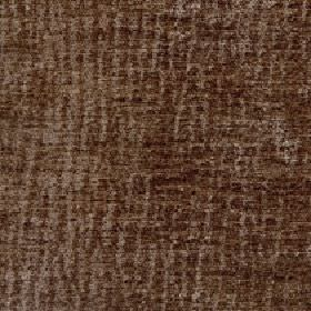 Lexi - Boulder - 100% polyester fabric made with a subtle pattern of random, uneven vertical lines in two similar rich shades of brown