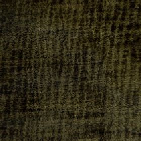 Lexi - Chive - Dark, patchily coloured lines running vertically down fabric made from 100% polyester in dark forest green