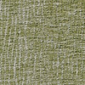 Lexi - Gleam - Apple green and pale grey coloured lines running in a patchy, uneven, random vertical design on 100% polyester fabric