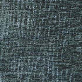 Lexi - Mineral Blue - 100% polyester fabric patterned with a patchy, random, uneven vertical line design in two dark shades of marine blue